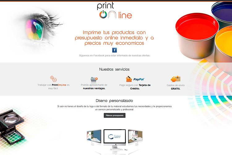 Página web de Print Online