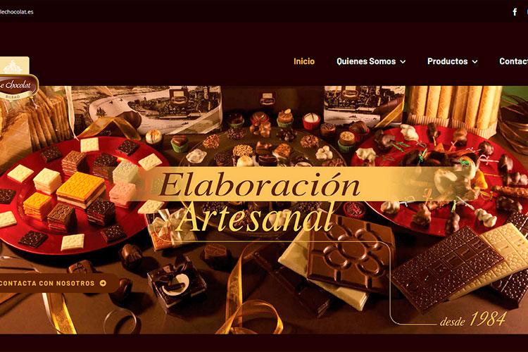 Página web de Le Chocolat